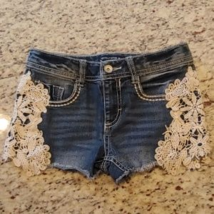 Cute Girl's Lace Detail Shorts Size 10